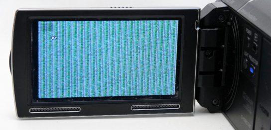 HDR-PJ590V-Sony-handycam-落下後に液晶表示に乱れ。データ復旧