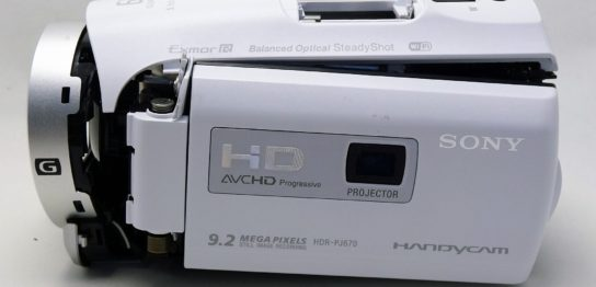 HDR-PJ670-sony-handycam-落下して電源が入らない。データ取り出し