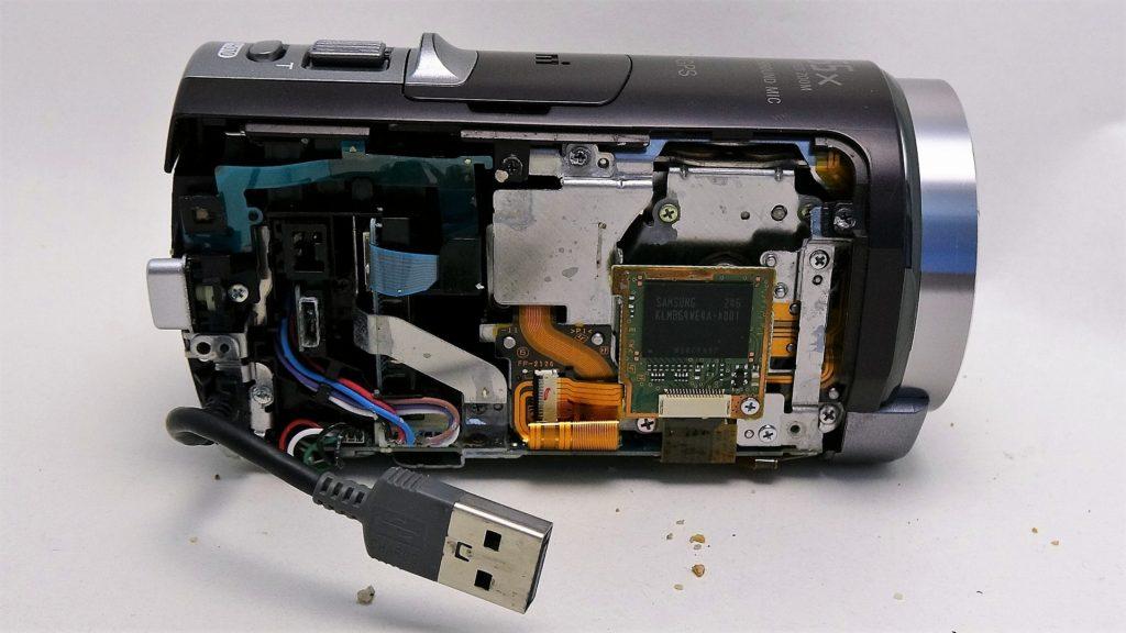 HDR-CX430-Sony-Handycam-水没で電源が入らない